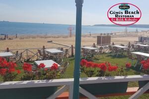 Gümüş Beach Restaurant Plaj Girişi ve Hamburger Menü
