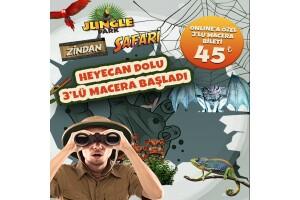 İsfanbul AVM Jungle Park, Safari, Zindan Eğlence ve Heyecan Dünyası Giriş Bileti