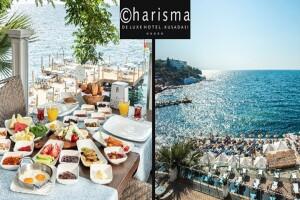 Kuşadası Charisma DeLuxe'da Serpme Kahvaltı, Havuz ve Plaj Kullanımı