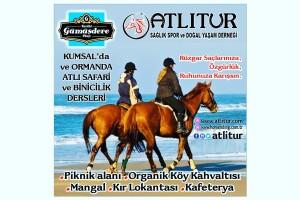 Atlıtur'dan Tarihi Gümüşdere Plajı'nda At Binme Seçenekleri
