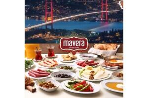 Çamlıca Mavera Cafe & Restaurant'ta Boğaz Manzarası Eşliğinde Hafta İçi Geçerli Serpme Kahvaltı veya Hafta Sonu Açık Büfe Kahvaltı Seçenekleri