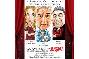 Ali Poyrazoğlu, Güneş Berberoğlu ve Melih Ekener'in Sahnelediği 'Tamamla Bizi Ey Aşk' Adlı Oyuna Tiyatro Bileti