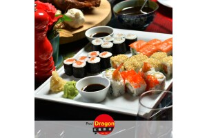 Alsancak Red Dragon Chinese Restaurant'ta 18 Parça Sushi Lezzeti