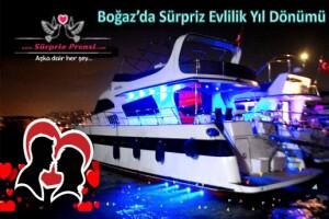 Sürpriz Prensi ile Sevdiklerinizi Mutlu Edecek Boğaz Turu Eşliğinde Evlilik Yıl Dönümü Sürpriz Paketleri