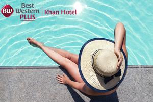 Antalya Best Western Plus Khan Hotel'de Şezlong ve Şemsiye Kullanımı Dahil Havuz Keyfi + Hamburger Menü