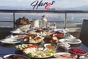 Hares Seyr-i Bursa Cafe'den Eşsiz Bursa Manzarası Eşliğinde 30 Çeşitli Serpme Kahvaltı Keyfi