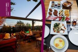 Küçük Çamlıca Merdiven Cafe'de Sınırsız Çay Eşliğinde Lezzet Dolu Serpme Kahvaltı ve Kahvaltı Tabağı Menüsü