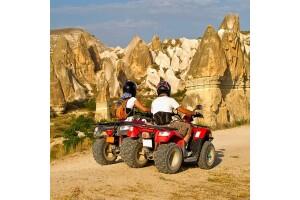 Kapadokya'da Gün Batımı Eşliğinde 2 Saatlik ATV Safari Turu