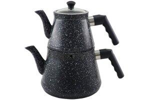 Esra Sonessa Orta Boy Granit Çaydanlık Siyah