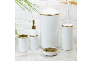 İmera İmr-61 5 Parça Akrilik Banyo Seti Beyaz-Altın