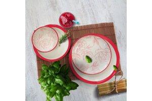 Porline Mercan Rose Combin 24 Parça Yemek Seti