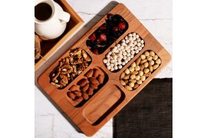 Kitchen World Kyn-028 Kayoon 6 Gözlü Bambu Çerezlik