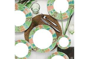 Kütahya Porselen Nano  24 Parça 885103 Desen Yemek Seti