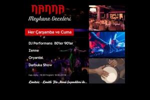 Nanna Restaurant'da Her Çarşamba ve Cuma Meyhane Geceleri Akşam Yemeği