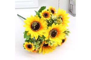 Yapay Çiçek Ay Çiçeği Büyük Demet Cipsolu