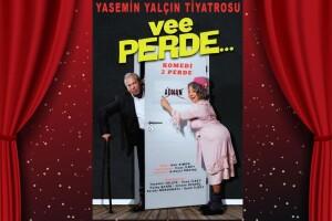 Usta Oyuncular Yasemin Yalçın ve İlyas İlbey'in Sahnelediği 'Vee Perde' Tiyatro Oyunu Bileti