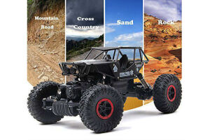 Rock Crawler Off Road, Metal Gövde 2.4Ghz 4X4 U/K Buggy Jeep 1:18