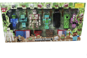 Minecraft Figür Oyuncakları Büyük Boy 21 Parça Kutulu Set