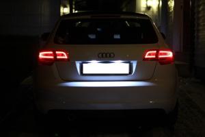 Audi A3 2003-2012 8P Kasa Plaka Aydınlatma Seti Sofit Led Ampul