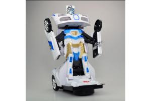 Transformers-Robota Dönüşen Işıklı, Sesli, Sensörlü Polis Arabası