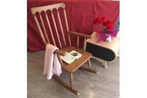 Sallanan Sandalye %100 Gürgen Ağacı Sallanan Koltuk