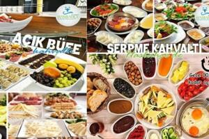 Tarihi Beylerbeyi Su Merdum Hotel Has Bahçe Restaurant'ta Serpme & Açık Büfe Kahvaltı Seçenekleri