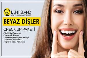 Dentisland Bakırköy ve Kadıköy Şubelerinde Geçerli Diş Beyazlatma Check Up Paketi