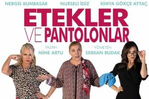 Nurseli İdiz, Nergis Kumbasar, Kimya Gökçe Aytaç'ın Sahnelediği 'Etekler ve Pantolonlar' Tiyatro Oyunu Bileti