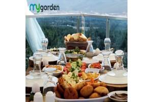 Yakaköy My Garden Butik Otel'de Havuz Baışnda Enfes Serpme Kahvaltı