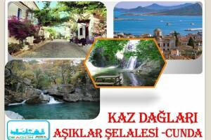 Her Cumartesi & Pazar İzmir Kalkışlı Günübirlik Kaz Dağları, Cunda, Aşıklar Şelalesi Turu