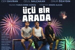 Ünlü Oyuncular Cem Davran, Celil Nalçakan ve Onur Özaydın'ın Oynadığı 'Üçü Bir Arada' Tiyatro Oyunu Bileti