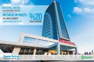 Memorial Ankara Hastanesi'nde geçerli VIP Check-Up Paketi ve Acil Sağlık Teminatı Vergi Avantajı Desteği ile %20 Daha Ekonomik