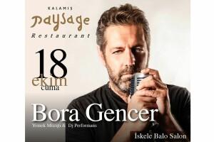 Kalamış Paysage Restaurant'ta 18 Ekim Bora Gencer Canlı Performansı Eşliğinde Denize Nazır Gala Yemeği