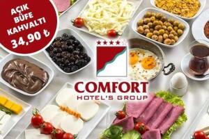 Comfort Otel'den Her Gün Geçerli 60 Çeşitten Oluşan Nefis Açık Büfe Kahvaltı Keyfi