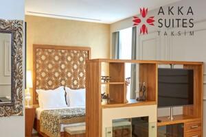 Akka Suites Taksim'de Çift Kişilik Konaklama Seçenekleri