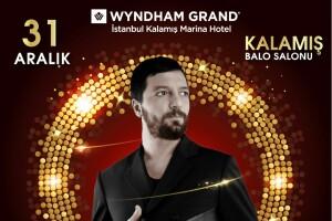 Anadolu Yakasının Lüksü Wyndham Grand Istanbul Kalamış Marina Hotel'de Mehmet Erdem ve Muhteşem Lezzetler Eşliğinde Yılbaşı Eğlencesi