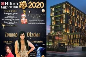 Hilton Garden Inn Yalova'da Limitsiz İçecek ve Zeynep Dizdar Sahnesi Eşliğinde Yılbaşı Eğlencesi & Konaklama Seçeneği