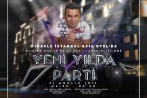 Miracle İstanbul Asia Hotel'de Muhteşem Yılbaşı Galası & Konaklama