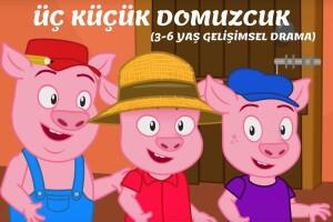 'Üç Küçük Domuzcuk' Çocuk Tiyatro Oyunu Bileti (Kukla & Drama Atölyesi Hediyeli)