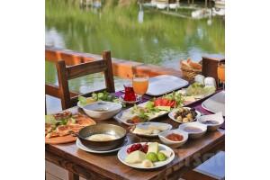 Ağva Mints Hotel Restaurant'ta Göksu Nehri Kenarında Zengin Serpme Köy Kahvaltısı İle Güne Keyifli Başlayın!
