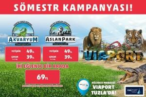 Viaport Marina Tuzla Akvaryum ve AslanPark Biletleri