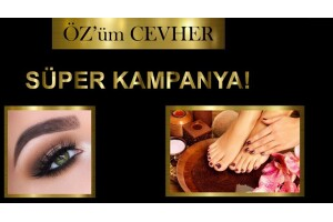 Özüm Cevher Güzellik Merkezi'nde Protez Tırnak, Kalıcı Oje, Manikür & Pedikür Uygulamaları