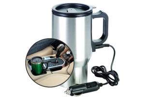 Oto Araç Içi Su Isıtıcı 12V Kahve Makinası Kupa Tip Mug Termos