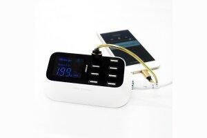 Multiport 8 Usb Port 40W Lcd Ekranlı Ultra Hızlı Şarj Cihazı