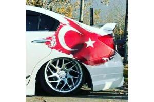 3D Türk Bayrağı Sticker