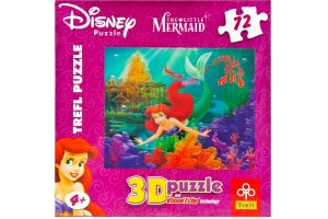 Puzzle 3D 72 Parça, Disney The Little Mermaid 35503
