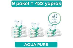 Prima Aqua Pure Islak Mendil 9 Paket 432 Yaprak