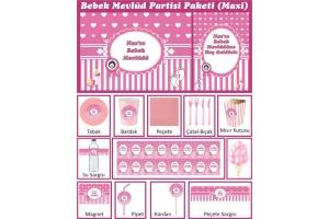 Kişiye Özel Kız Bebek Mevlüt Seti (Maxi)