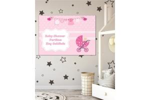 Kişiye Özel Baby Shower Kız Temalı Afiş