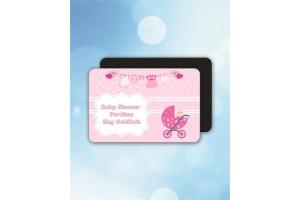 Kişiye Özel Baby Shower Kız Temalı Buzdolabı Magnet (10 Adet)